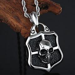 preiswerte Halsketten-Herrn Anhängerketten - Edelstahl Totenkopf Silber Modische Halsketten Schmuck Für Party, Alltag, Normal