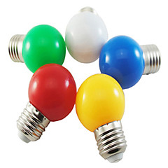 5pcs Colour Mixture 1W E26/E27 LED Globe Bulbs Green/Red/Blue/Yellow/White Color AC220-240V
