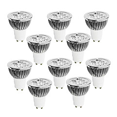 abordables Bombillas LED-10pcs 4W 400-450 lm GU10 Focos LED 4 leds LED de Alta Potencia Regulable Blanco Cálido Blanco Fresco Blanco 220-240