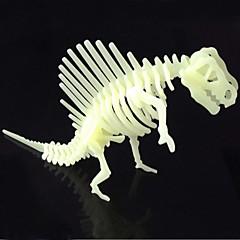 puzzle-uri Puzzle 3D Blocuri de pereti DIY Jucarii Dinosaur ABS Cristal Jucărie de Construit & Model