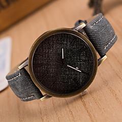 preiswerte Tolle Angebote auf Uhren-Damen Quartz Armbanduhr Cool PU Band Modisch Schwarz