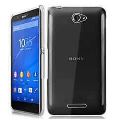 Недорогие Чехлы и кейсы для Sony-Для Кейс для Sony Прозрачный Кейс для Задняя крышка Кейс для Один цвет Твердый PC для Sony Sony Xperia E4 / Other
