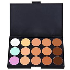 15 Oogschaduwpalet Nat / Mat / Glinstering Oogschaduw palet Kaki Normaal Smokey make-up / Feestelijke make-up