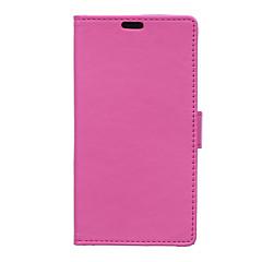 Voor Sony hoesje Kaarthouder / Portemonnee / met standaard / Flip hoesje Volledige behuizing hoesje Effen kleur Hard PU-leer voor Sony