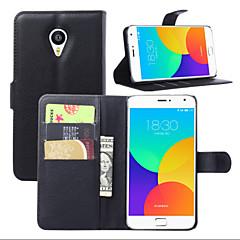 Χαμηλού Κόστους Θήκες-λίτσι γύρω από το ανοικτό στήριγμα τηλέφωνο δέρμα πορτοφόλι κάρτα κατάλληλη για Meizu ΜΧ4 pro (διάφορα χρώματα)