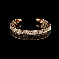 Bracelet/Chain Bracelets / Bangles / Silver Bracelets Crystal / Alloy / Rhinestone Wedding / Party / Daily / Casual Jewelry GiftGold /