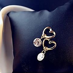 abordables Pendientes-Mujer Pendientes colgantes - Corazón Básico, Moda Dorado Para Fiesta / Diario / Casual
