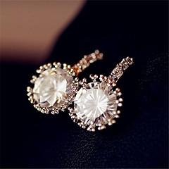 preiswerte Ohrringe-Damen Ohrstecker Tropfen-Ohrringe - Künstliche Perle, Strass, vergoldet Weiß Für
