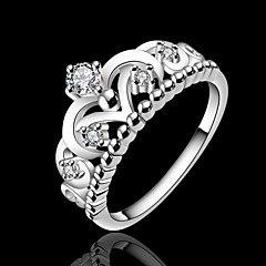 cheap -Crown 925 Silver Statement Rings Wedding/Party/Daily/Casual/Sports 1pc