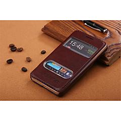 Varten Samsung Galaxy kotelo Tuella / Ikkunalla / Flip Etui Kokonaan peittävä Etui Yksivärinen Tekonahka SamsungS5 Mini / S5 / S4 Mini /