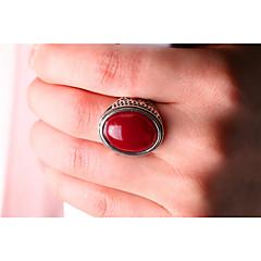 preiswerte Ringe-Damen Statement-Ring - vergoldet Modisch Eine Größe Schwarz / Rot Für Party