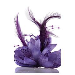여성 레이스 모조 진주 쉬폰 투구-웨딩 특별한날 캐쥬얼 야외 파시네이터 꽃 모자 헤어리스 1개
