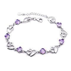 preiswerte Armbänder-Damen Ketten- & Glieder-Armbänder Bettelarmbänder - Sterling Silber Armbänder Purpur Für Hochzeit Party Alltag