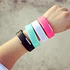 preiswerte Herrenuhren-Herrn digital Armbanduhr LED Silikon Band Charme Schwarz Weiß Orange Grün