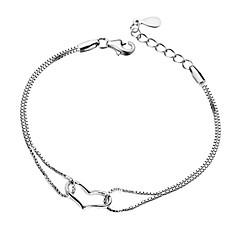 Dames Armbanden met ketting en sluiting Liefde PERSGepersonaliseerd Hypoallergeen Kostuum juwelen Verzilverd Hartvorm Sieraden Sieraden