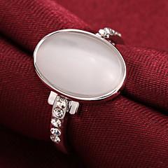 preiswerte Ringe-Damen Bandring - 18K vergoldet, Zirkon, Kubikzirkonia Luxus 7 / 8 Silber / Rose / Golden Für Party Alltag Normal / versilbert / versilbert / Krystall