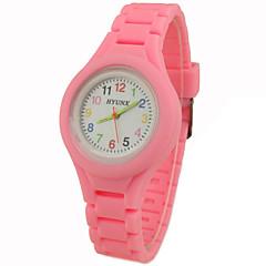 preiswerte Damenuhren-damas Armbanduhr Quartz Armbanduhren für den Alltag Silikon Band Analog Charme Freizeit Schwarz / Weiß / Blau - Grün Rosa Hellblau