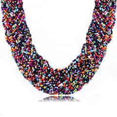 お買い得  ネックレス-女性用 ビブネックレス チョーカー  -  ラインストーン ステートメント, ボヘミアンスタイル, ファッション グリーン, ピンク, 虹色 ネックレス 用途 日常, カジュアル