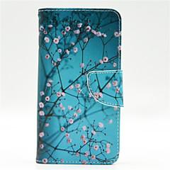 용 노키아 케이스 지갑 / 카드 홀더 / 스탠드 케이스 풀 바디 케이스 나무 하드 인조 가죽 Nokia Nokia Lumia 640