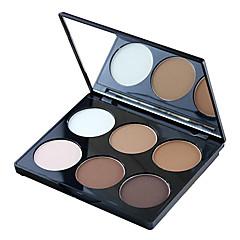 6 Poeder Droog / Mat / Glinstering Poeder Bedekking / Witter Maken / Langdurig / Concealer / Naturel / Poriënverkleinend / Tegen acné