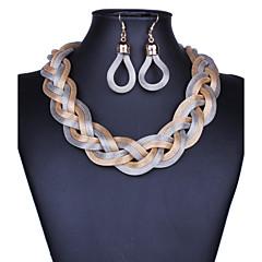 お買い得  ネックレス-女性用 スターダスト ドロップイヤリング / ステートメントネックレス  -  ステートメント, ヴィンテージ パープル, レッド, ブルー 42 cm ネックレス ジュエリー 1個 用途 パーティー, おめでとう