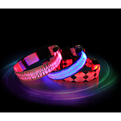 voordelige hondenhalsbanden tuigjes riemen kat hond kraag led verlichting waterdicht nylon rood