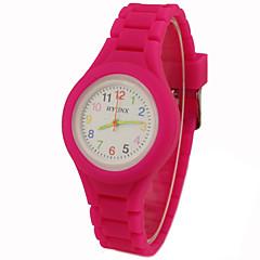お買い得  大特価腕時計-リストウォッチ クォーツ カジュアルウォッチ シリコーン バンド ハンズ チャーム カジュアル ブラック / 白 / ブルー - グリーン ピンク ライトブルー