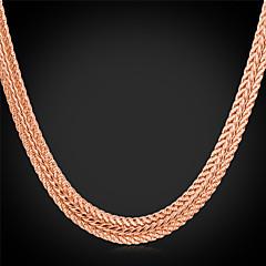 preiswerte Halsketten-Damen Klobig Halsketten / Ketten - Platiert, vergoldet Modisch Silber, Rose, Golden Modische Halsketten Schmuck Für Hochzeit, Party, Alltag
