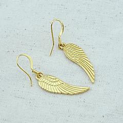 お買い得  イヤリング-女性用 ゴールドメッキ ドロップイヤリング  -  翼 / 羽 イヤリング 用途 結婚式 パーティー 日常