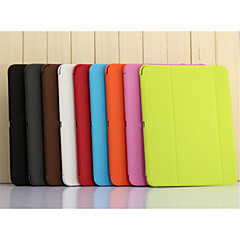 tanie Galaxy Tab 4 10.1 Etui / Pokrowce-Kılıf Na Samsung Galaxy Tab 9.7 Samsung Galaxy Etui Z podpórką Flip Origami Pełne etui Solid Color Skóra PU na Tab 4 10.1 Tab Pro 10.1