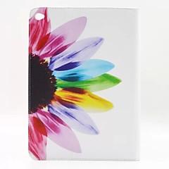 ηλίανθου λουλούδι pu δέρμα γεμάτο περίπτωση σώματος με βάση για τον αέρα ipad AIR2 ipad