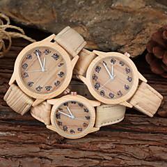 preiswerte Armbanduhren für Paare-Herrn / Damen / Paar Modeuhr PU Band Khaki