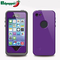 Недорогие Кейсы для iPhone 5-Кейс для Назначение iPhone 5 Apple Кейс для iPhone 5 Защита от влаги Защита от пыли Защита от удара Чехол броня Твердый ПК для iPhone