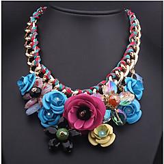 preiswerte Halsketten-Damen Geflochten Anhängerketten - Blume Erklärung, Fest / Feiertage Blau, Rosa Modische Halsketten Schmuck Für Party, Besondere Anlässe, Geburtstag