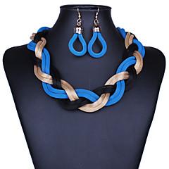 preiswerte Halsketten-Damen Sternenstaub Tropfen-Ohrringe / Statement Ketten - Erklärung, Retro Purpur, Rot, Blau 42 cm Modische Halsketten Schmuck 1pc Für Party, Besondere Anlässe, Herzliche Glückwünsche