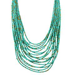 preiswerte Halsketten-Damen Glasperlen Stränge Halskette - Modisch Kaffee, Rot, Grün Modische Halsketten Schmuck Für Party, Alltag, Normal