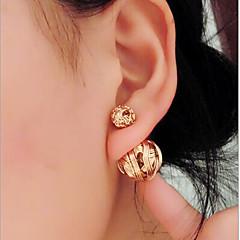 preiswerte Ohrringe-Damen Tropfen-Ohrringe - Personalisiert, Beidseitig Gold / Schwarz / Silber Für
