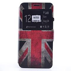 Недорогие Чехлы и кейсы для Galaxy Note 5-Кейс для Назначение SSamsung Galaxy Samsung Galaxy Note Бумажник для карт со стендом с окошком Флип С узором Чехол Флаг Мягкий Кожа PU для