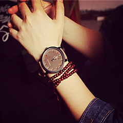 Mulheres Relógio de Moda Bracele Relógio Quartzo PU Banda Preta