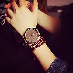 Bayanların Moda Saat Bilezik Saat Quartz PU Bant Siyah Beyaz Siyah Kahverengi