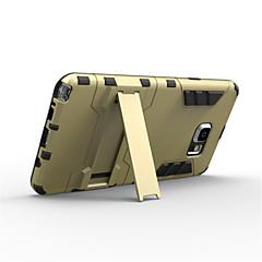 olcso Galaxy Note 5 tokok-Case Kompatibilitás Samsung Galaxy Samsung Galaxy Note Ütésálló Állvánnyal Fekete tok Páncél PC mert Note 5