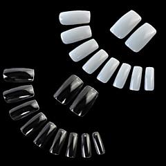 abordables punta de la uña-Extremidades del arte del clavo francés 200pcs consejos falsas uñas acrílicas para decoraciones de uñas (100pcs 100pcs natural y clara)