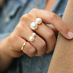 cheap -Statement Rings Pearl Alloy Adjustable Fashion Gold Silver Jewelry Party 1pc