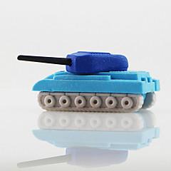 작은 전쟁 탱크 장난감 분리 고무 지우개 (임의의 색)