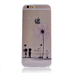 Недорогие Кейсы для iPhone 7 Plus-Кейс для Назначение Apple iPhone 6 iPhone 6 Plus iPhone 7 Plus iPhone 7 Прозрачный С узором Кейс на заднюю панель одуванчик Мягкий ТПУ для