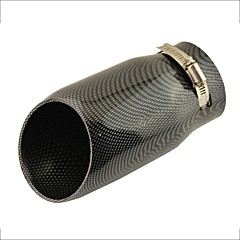 """billiga Avgassystem-3"""" inloppssned skuren kolfiber utskrifts bilavgaser ljuddämpare spets för audi A6L"""