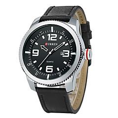 preiswerte Tolle Angebote auf Uhren-CURREN Herrn Armbanduhr Quartz Schwarz / Braun Kalender Analog damas Charme - Schwarz Silberschwarz Gold / Silber