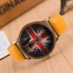 preiswerte Damenuhren-Damen Quartz Armbanduhr Armbanduhren für den Alltag Leder Band Retro Modisch Schwarz Weiß Blau Rot Braun Grün Rosa Gelb