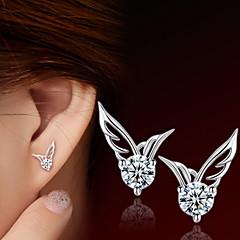 preiswerte Ohrringe-Damen Ohrstecker - Sterling Silber, Edelstahl Engelsflügel Silber Für Alltag / Normal / Sport