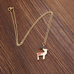 preiswerte Halsketten-Damen Emaille Aleación Anhängerketten - Emaille Aleación Modische Halsketten Für Hochzeit Party Alltag Normal Sport